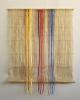 Fäden in destabilisierte Leinwand, 98 x 79 cm