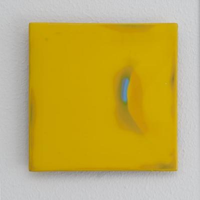 Lack auf Aluminium, 12 x 12 cm
